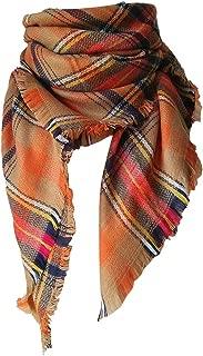 Wiwsi Women's Fashion Shawl Grid Autumn Winter Neck Warmer Elegant Blanket Scarf