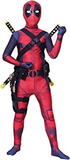 Unisex Lycra Superhero Bodysuit Halloween Cosplay Costumes Kids 3D Style