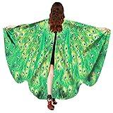 kingko® Frauen Pfau Flügel Schal Damen Nymphe Pixie Poncho Kostüm Zubehör Schmetterlings Flügel...
