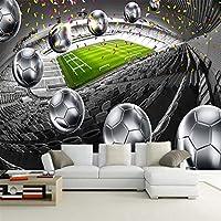 現代の3Dサッカーフィールドボール壁画壁紙リビングルームソファ背景壁布家の装飾壁装材-150x120cm