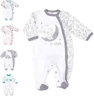 Baby Sweets Baby Strampler für Mädchen und Jungen/Baby-Overall als Schlafanzug und Babystrampler, 56, Grau Weiß - A Star Is Born 2