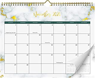 Aesthetic Marble Wall Calendar with Gold Foil - Monthly Calendar for Easy Planning, Incl. Year 2021
