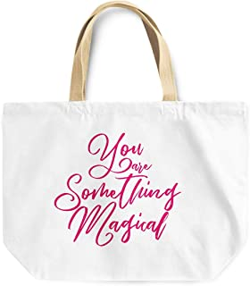 Loud Universe You Are Something Magical Couples Girlfriends Reusable Tote Bag, 30 x 30 x 10 cm, Multicolor