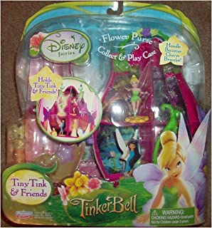 Playmates Toys Disney Fairies Tiny Tink & Friends Flower Purse Collect & Play Case
