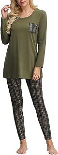 Zexxxy Women Pajamas Set Long Sleeve Tops and Stretchy Leggings Soft Sleepwear S-XXL