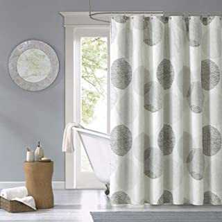 Madison Park MPE70-038 Essentials Knowles Shower Curtain 72x72 Grey