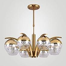 NANSONG 8 Lights Glass Lamp Lustre Modern Design Chandelier Living Room Kitchen Foyer Decor Home Lighting Fixture Chrome M...