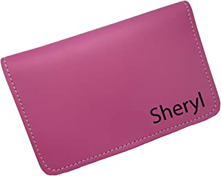 Personalized Tulips Genuine Leather Checkbook Cover