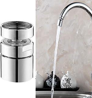 ONESWI 1.8GPM Kitchen Sink Aerator Brass - 360 Degree Swivel Faucet Aerator - Anti-Splash Tap and Water Saving Faucet - 5...