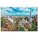 España Parque Güell Barcelona Puzzle 1000 Piezas para Adultos Familia Rompecabezas Recuerdo Turismo Regalo