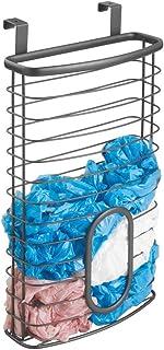mDesign Organizador de bolsas plásticas para colgar en la