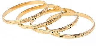 Openable Hand Dubai Gold Bangles Women Men Gold Bracelets African Bangle