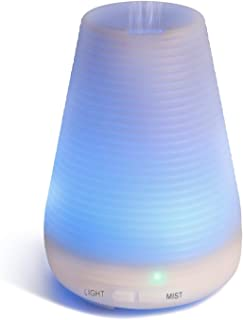 ESEOE 100ML Auto-Off Air Diffusers Aromatherapy Diffusers, Air Purifier LED Colorful Night-Lighting Essential Oil Diffusers Humidifiers for Bedroom Office Travel