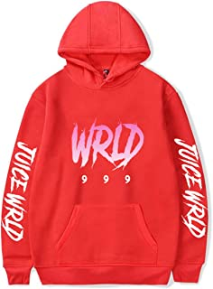 AQBZFHJ Fashion Juice WRLD 999 Word Hip Hop Hoodie Sweatshirt Pullover for Youth and Adult