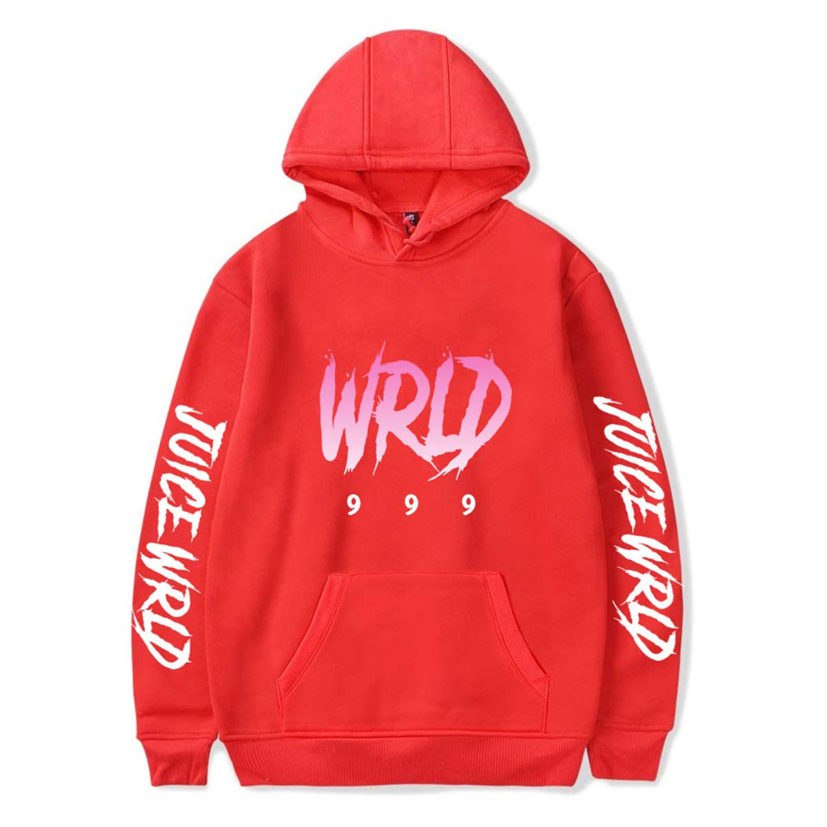 Fashion Juice Wrld 999 Word Hip Hop Cosplay Hoodie Sweatshirt Pullover Sportswear Sweater with Pocket for Youth and Adult