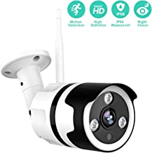 Outdoor Camera - 1080P Outdoor Security Camera, IP66 Waterproof, 2-Way Audio Home Security camera, Outdoor Camera Wireless with Motion Detection Night Vision, Cloud Storage/TF Card Work with Alexa