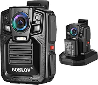 BOBLOV Body Worn Camera 1296P Wearable Cameras Ambarella A7 Built-in 32GB Memory Audio & Video Recorder 170° Wide Angle IR Night Vision with 360° Rotation Clip