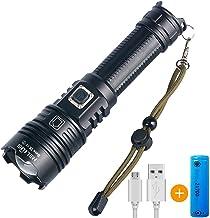 ASORT LED Taschenlampe Extrem Hell 12000Lumen IPX67 Wasserdicht USB Aufladbar Fackel 5 modi, Zoombar, Lange Arbeitszeit Ta...