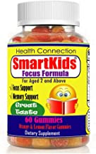 SmartKids - Brain Focus Chewable Gummies Supplements Great Taste Attention & Memory Formula for Childrens and Teens, Natur...