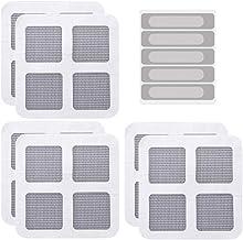 UPKOCH 25 stuks raamgaas reparatietape glasvezel lijm deurrooster patch stickers mesh film voor muggenwantsen vliegenstof...