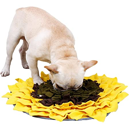 LIVEKEY Sunflower Snuffle Mat, Dog Feeding Mat, for Relieve Stress Restlessness Foraging Instinct Interactive Puzzle Toys