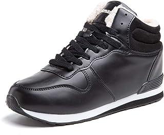 Botte Femme Homme HiverBoots Neige Fourrees Chaudes Chaussures de Randonnée Bottines Lacets Antidérapant Noir Marron Gris...