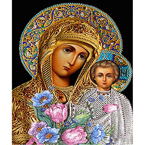 Hua5D Diamond Painting 5D Virgen Religiosa Punto De Cruz Diamante Completo Grande Bordado Diamantes Kits Full Drill For Adults Infantil 60x90cm