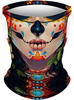 Face Scarf Mask Ear Loops Face Covering Neck Gaiter Bandanas Headwear Dust Wind UV Sun Lightweight Breathable For Outdoors