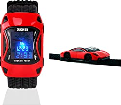 Boys Girls Digital Watches,Car Design Rubber Band Multi Functions 50M Waterproof Student Age 5-7 11-15 7-10 Digital Wristwatches for Kids