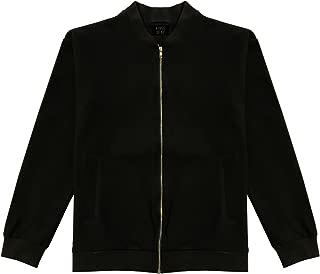 Mens Classic Casual Cotton Black Bomber Jacket