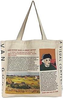 BROADREAM Einkaufstasche Tote Bag Canvas Tasche Handtasche Groß Damen Umhängetasche Henkeltasche Aesthetic Taschen Stoffta...