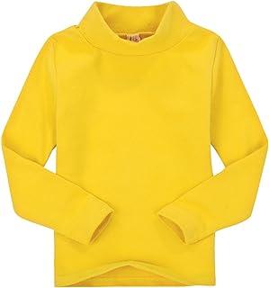 CuteOn Bambini Kids | Alto Collo | Manica Lunga | Cotone | T-Shirt, Top, Camicia di T - Vari Colori