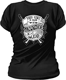 Sons Of Liberty This Girl is Made of Gunpowder and Lead. Womens T-Shirt