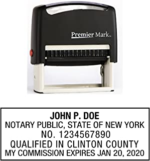 New York Notary Self-Inking Rubber Stamp - Meets State Specifications