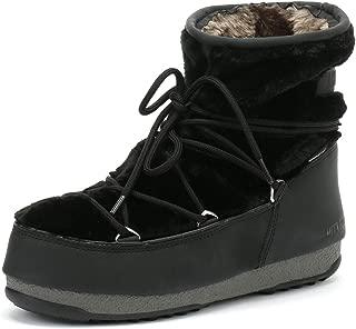 Moon Boot Monaco Low Womens Black Fur Boots