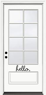Epic Designs Front Door Sticker - Hello - Inspirational Wall Sayings Vinyl Decals Art 8x3 ED-AB1