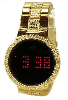 techno pave gold watch
