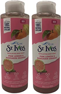 St. Ives Exfoliating Body Wash, Pink Lemon & Mandarin Orange, 16 oz (Pack of 2)