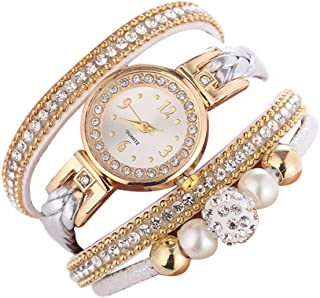 Hessimy Womens Fashion Watches New Ladies Business Bracelet Luxury Exquisite Crystal Watch Casual Stainless Steel Teen Girls Gift Retro Digital Analog Quartz Wrist Watches for Women On Sale