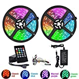 NOBRAND Tira De Luces Led Bluetooth 20M RGB 5050 SMD Cinta Flexible Impermeable Luz Led RGB 5M 10M Diodo De Cinta DC 12V Control Bluetooth
