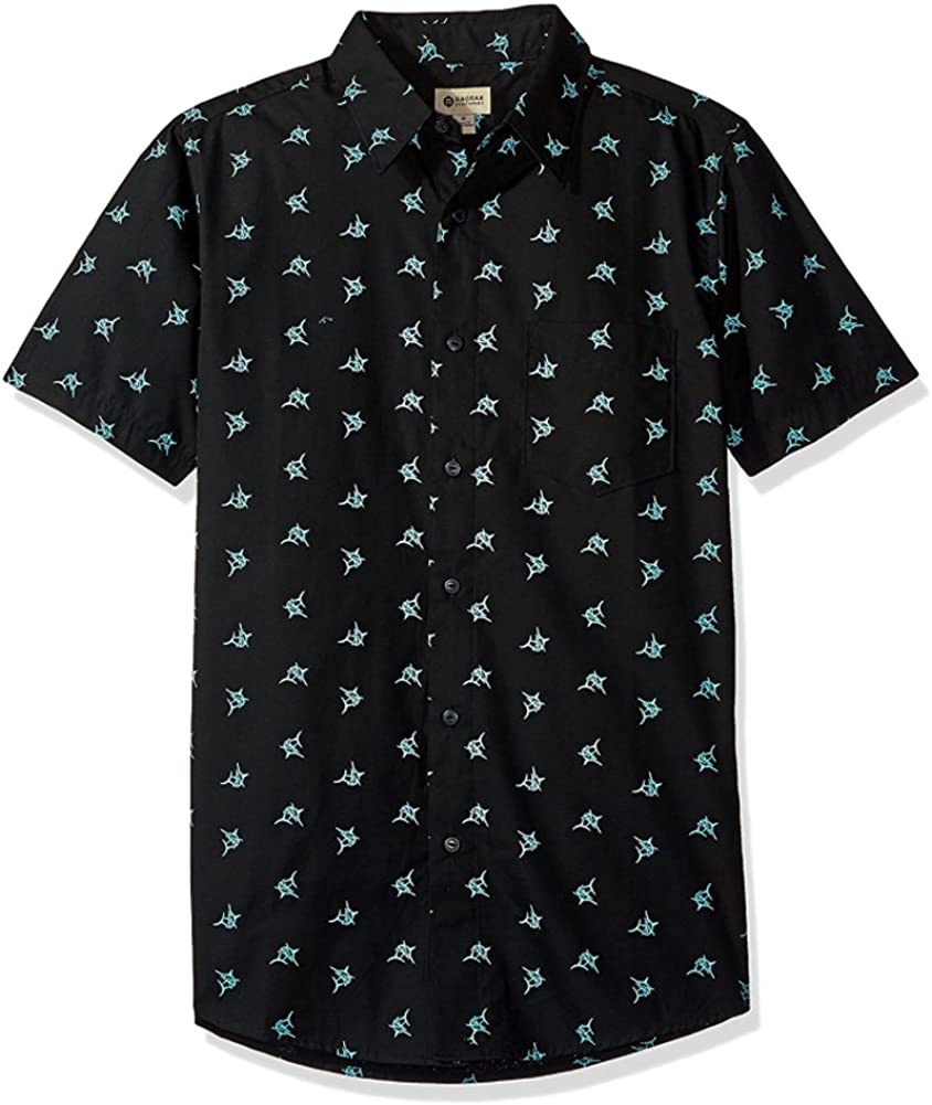 Haggar Men's Classic-Fit Micrographic Button-Up Shirt