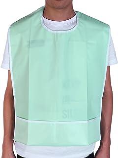 Healifty 1 Stk. Waschbares Lätzchen für Erwachsene Langes wasserdichtes Lätzchen Wiederverwendbares Fütterungslätzchen für Senioren mit Kleidung für Senioren mit Behinderung hellgrün
