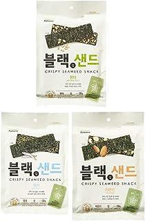 [Pulmuone] Roasted Seaweed (Nori) Snack 3 flavor sets (brown rice, anchovy, almond) / Korean food / Korean Seaweed / Seawe...
