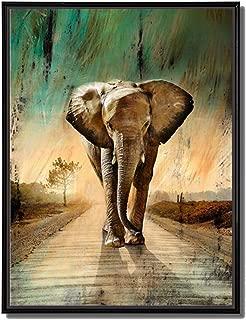 african elephant wall art