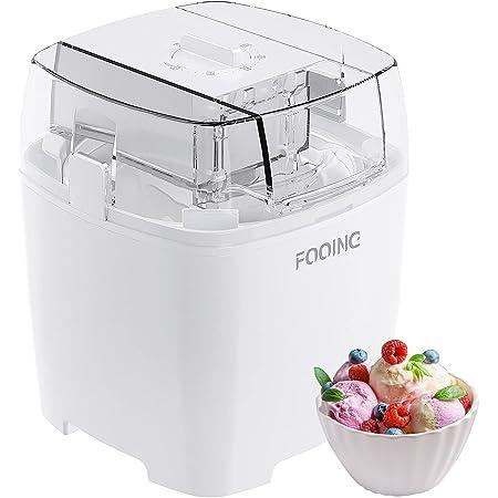 Sorbetiere Turbine à Glace avec Minuterie,Machine a Glace 15-25 Minute pour Crème Glacée/Yaourt Glacé/Sorbet