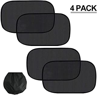 LOAZRE Car Window Shade,Sun, Glare and UV Rays Protection for Your Child -Baby Side Window Car Sun Shades - (4 Pack)