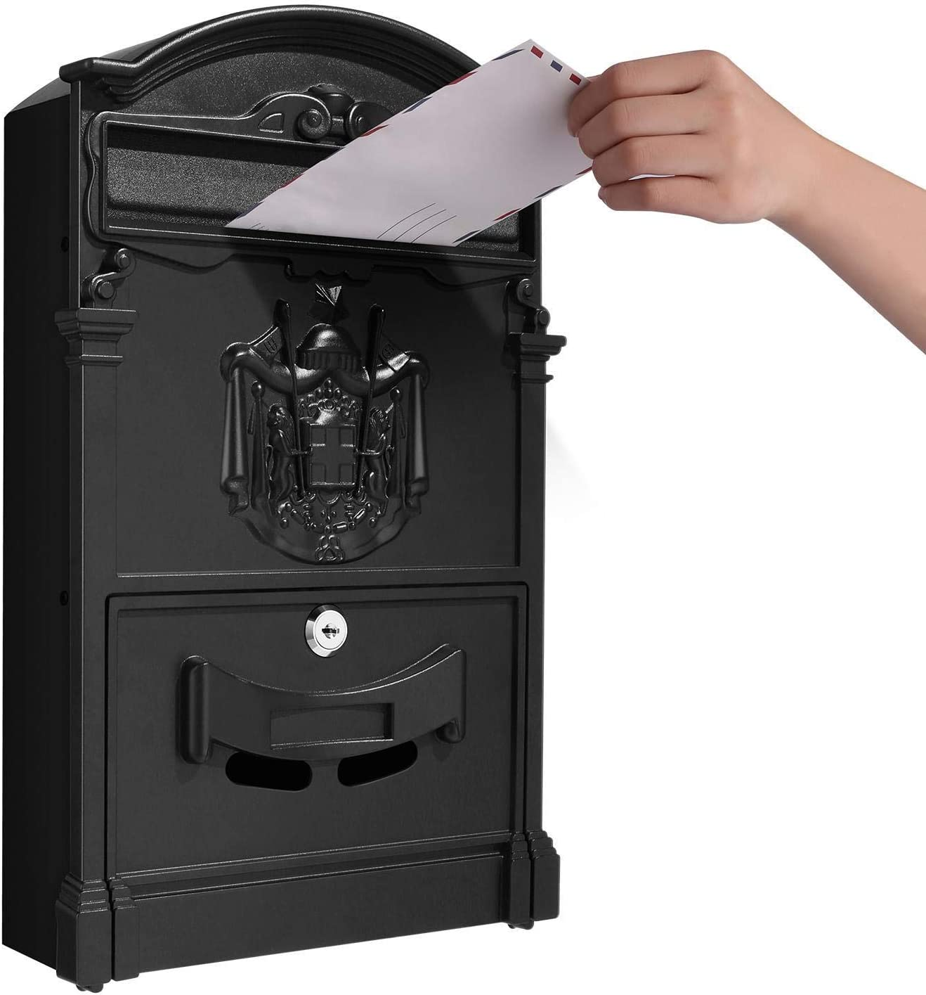 Vintage Mailbox for Post Mailbox That Locks  Retro Style Wall-Mount Mailboxes on House   Mailbox Green, Mailbox Black,Mailbox Bronze on Office