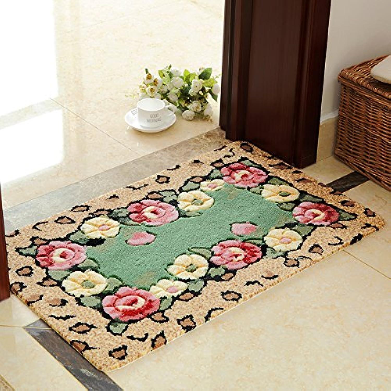 Flowers Entrance Door mat, Bedroom mat Living Room Bathroom Kitchen Water Absorbent Slip Proof mat -C-60x90cm(24x35inch)