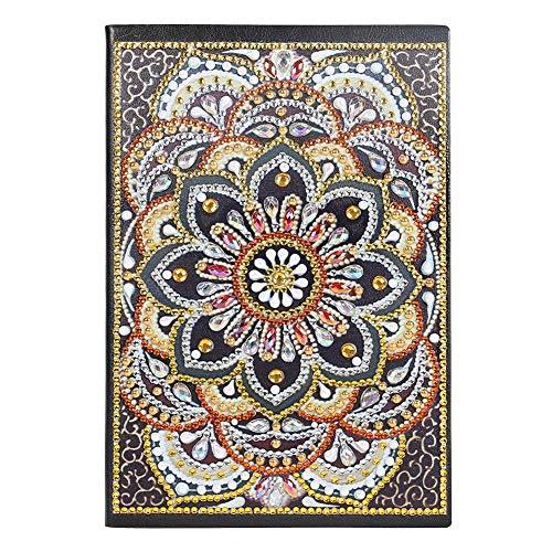 DIY Cuaderno blanco Mariposa Bloc de notas Cuaderno de diamantes Diario Libro Regalo del día del padre Cuaderno de bocetos Cuaderno de bocetos 50 páginas Mandala Regalo del día de los niños