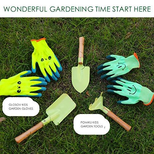 GLOSAV Kids Gardening Gloves for Ages 2-12 Toddlers, Youth, Girls, Boys, Children Garden Gloves for Yard Work (Size 2 for 2, 3, 4 Year Old)